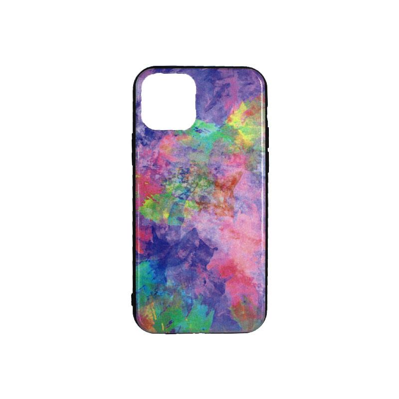 θήκη iphone 11 pro εμπριμέ μοβ 1
