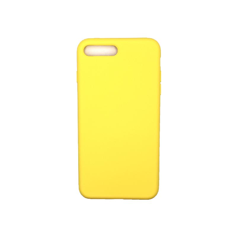 Θήκη iPhone 7 Plus / 8 Plus Silky and Soft Touch Silicone κίτρινο 1