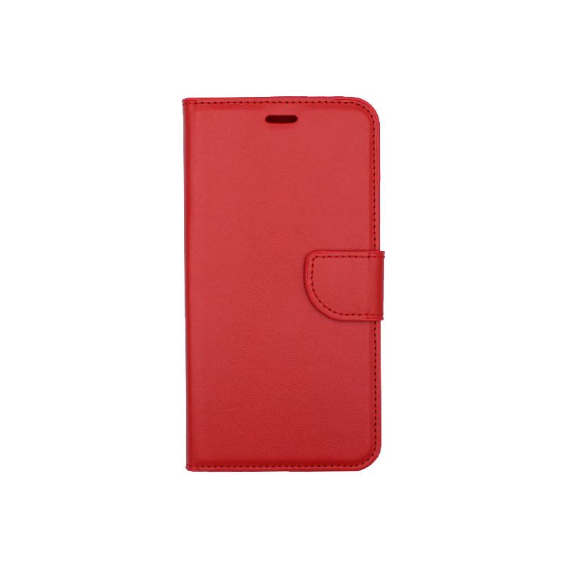 Θήκη iPhone 7 Plus / 8 Plus πορτοφόλι με κράτημα κόκκινο 1