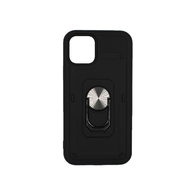 θήκη iphone 11 / 11 Pro σιλικόνη popsocket μαύρο 1