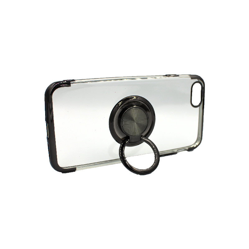 θήκη iphone 7 / 8 διάφανη σιλικόνη popsocket μαύρο 2