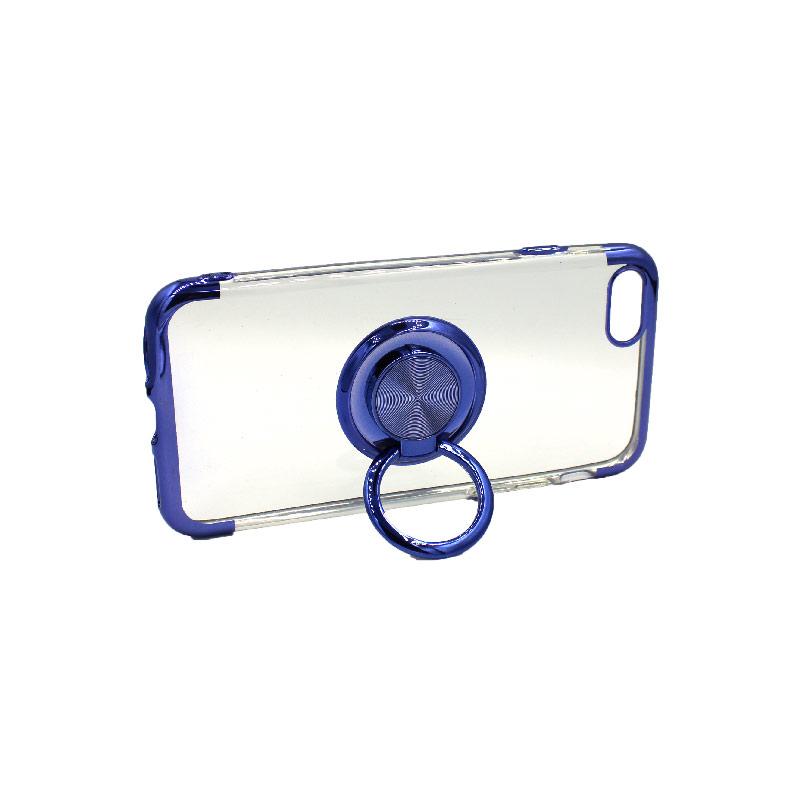 θήκη iphone 7 / 8 διάφανη σιλικόνη popsocket μπλε 3