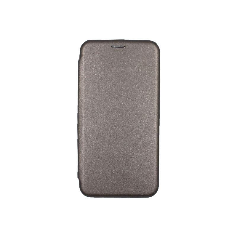 θήκη iphone 11 pro max πορτοφόλι γκρι 1