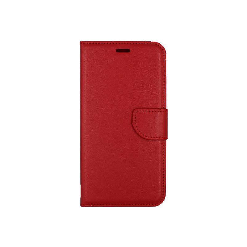 θήκη iphone 6 plus πορτοφόλι με κράτημα κόκκινη 1