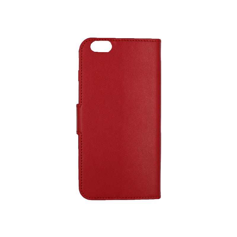 θήκη iphone 6 plus πορτοφόλι με κράτημα κόκκινη 2