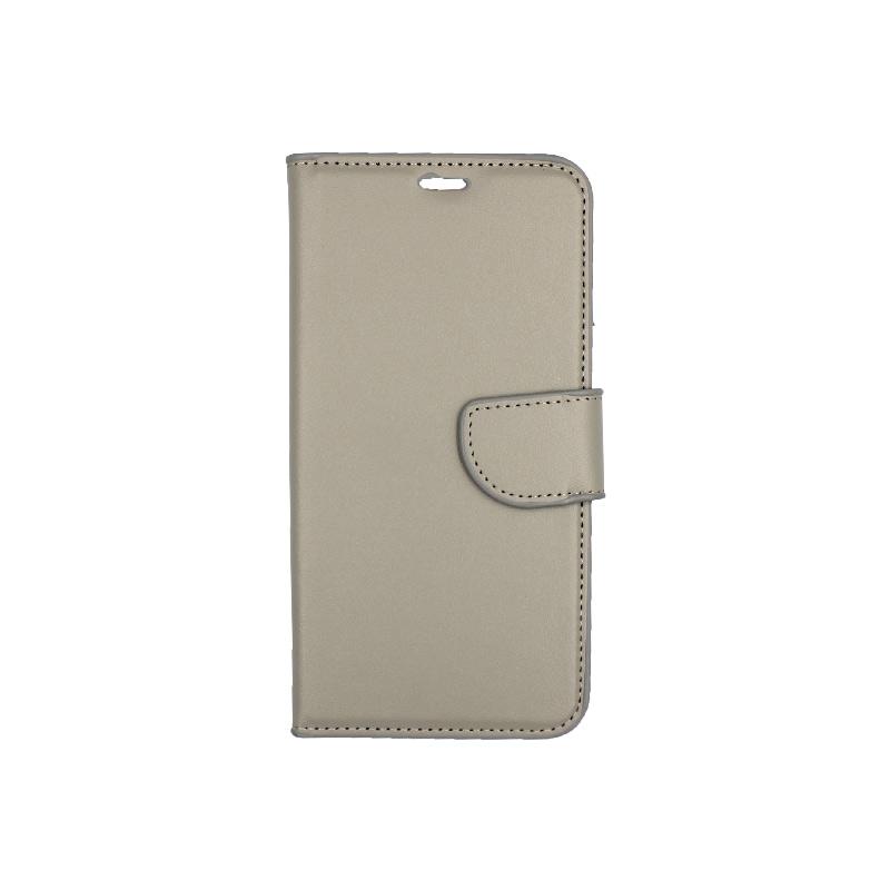 θήκη iphone X / Xs / XR / Xs Max πορτοφόλι με λουράκι γκρι 4