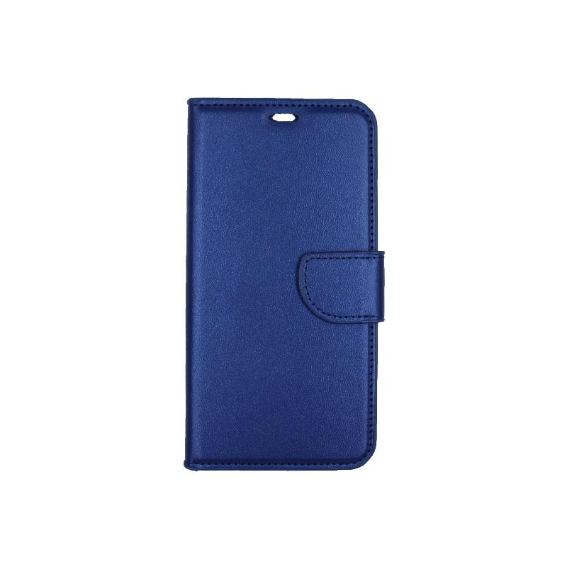θήκη iphone X / Xs / XR / Xs Max πορτοφόλι με λουράκι μπλε 4