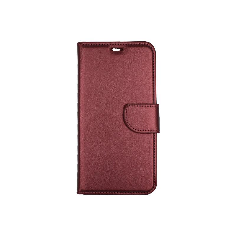 θήκη iphone X / Xs / XR / Xs Max πορτοφόλι με λουράκι μπορντό 4