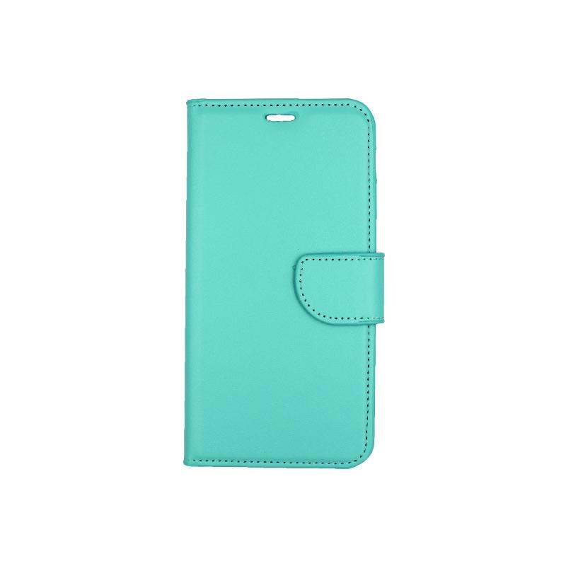 θήκη iphone X / Xs / XR / Xs Max πορτοφόλι με λουράκι τιρκουάζ 4