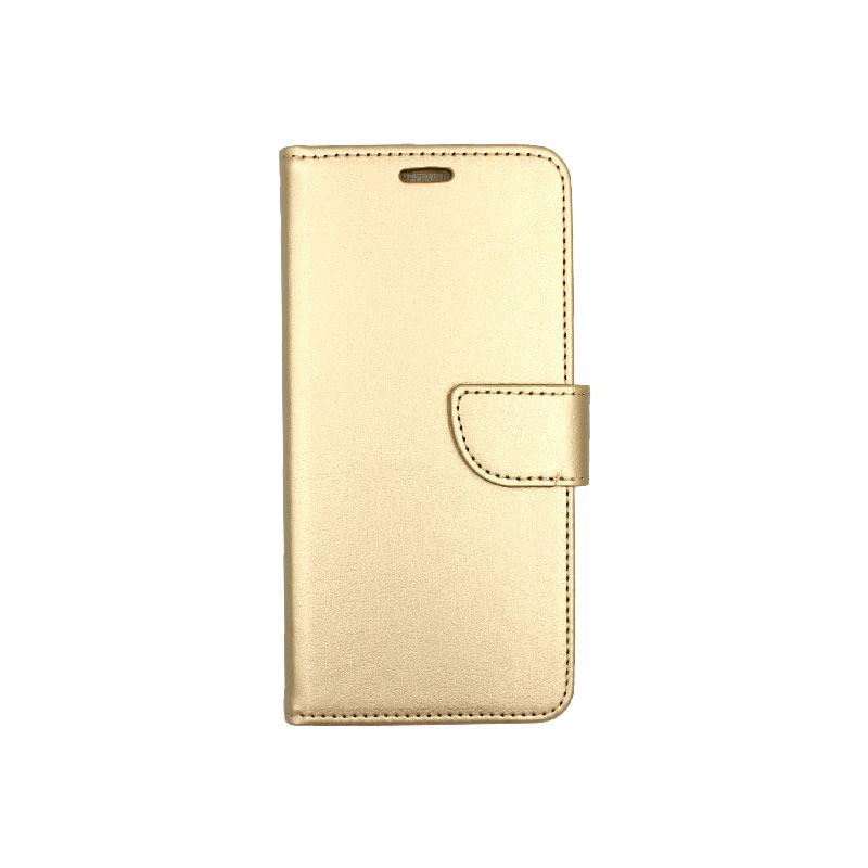 Θήκη Samsung Galaxy A10 / M10 Wallet χρυσό 1