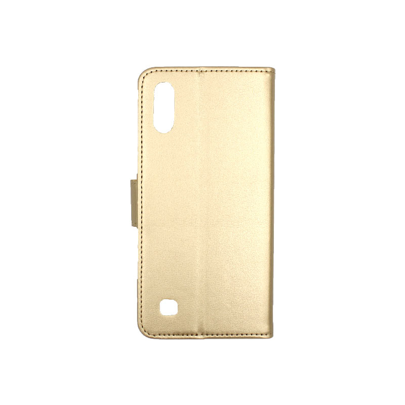Θήκη Samsung Galaxy A10 / M10 Wallet χρυσό 2