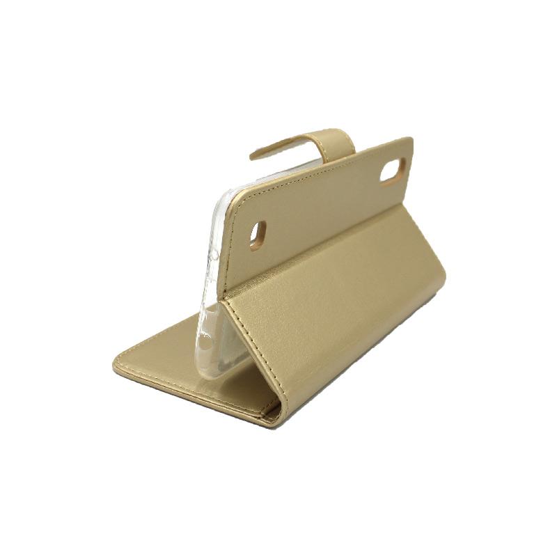Θήκη Samsung Galaxy A10 / M10 Wallet χρυσό 4