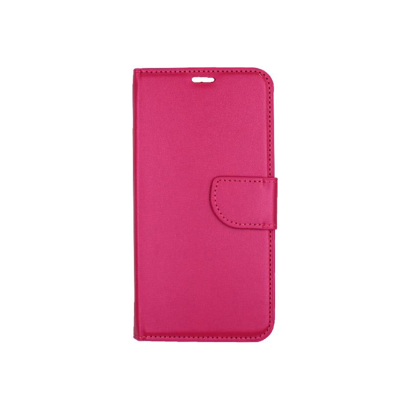 θήκη iphone 11 pro max πορτοφόλι με λουράκι φούξια 1