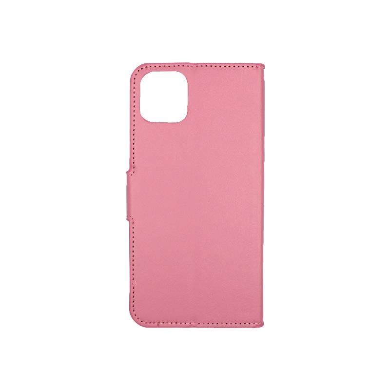 θήκη iphone 11 pro πορτοφόλι με λουράκι ροζ 2