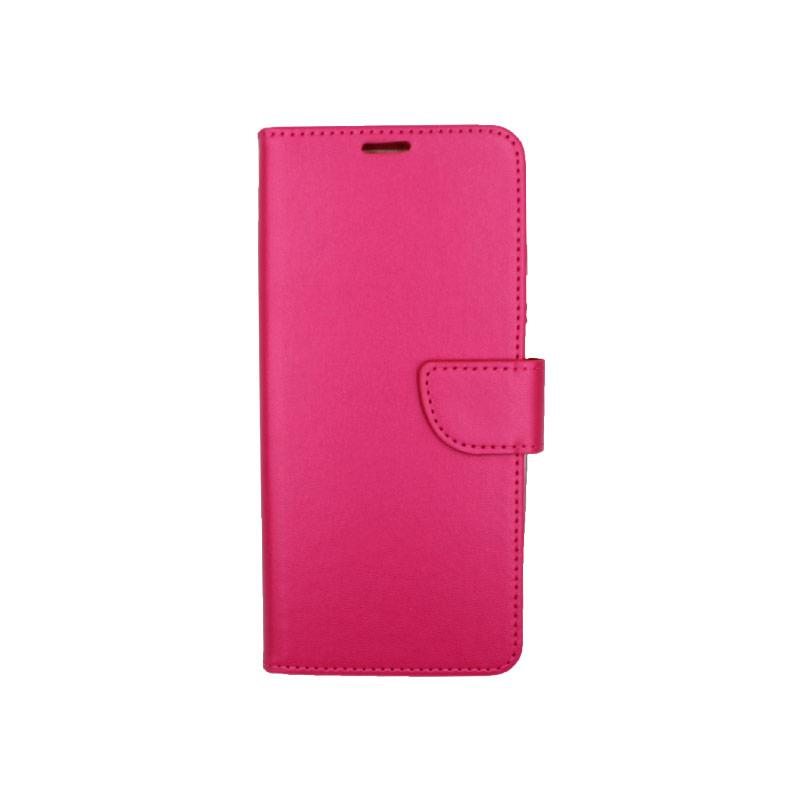 Θήκη Samsung A81 / Note 10 Lite Wallet σκούρο φούξια 1