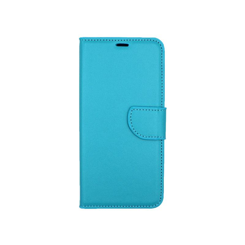 Θήκη Samsung Galaxy A6 Plus / J8 2018 Wallet γαλάζιο 1