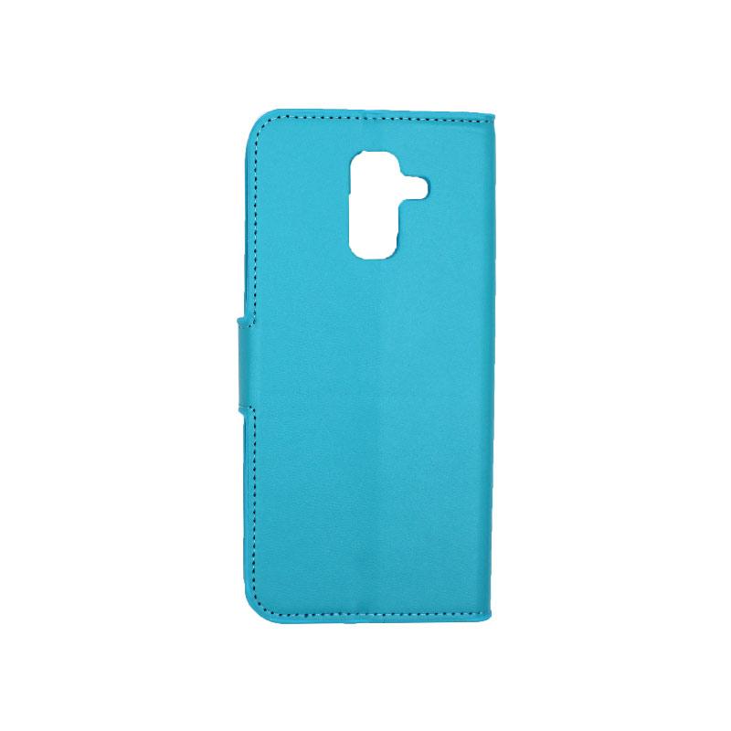 Θήκη Samsung Galaxy A6 Plus / J8 2018 Wallet γαλάζιο 2