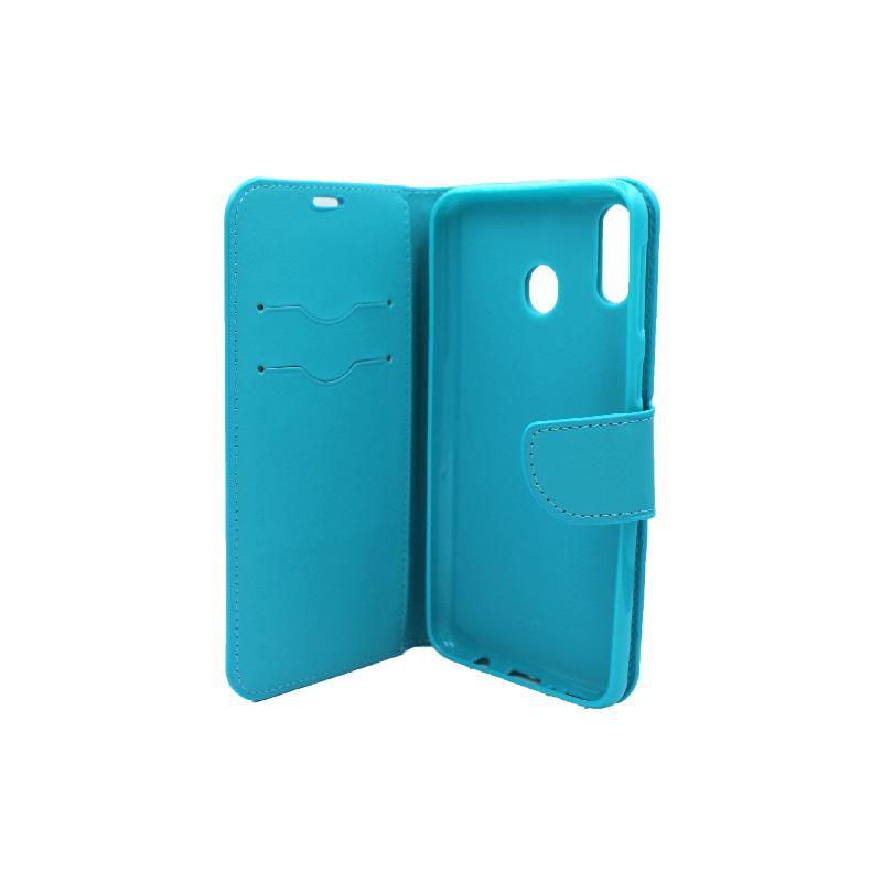 Θήκη Samsung Galaxy M20 Wallet γαλάζιο 3