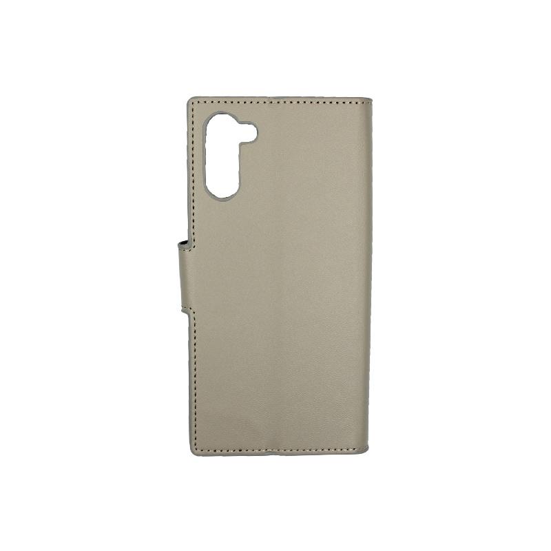 Θήκη Samsung Galaxy Note 10 πορτοφόλι γκρι 2