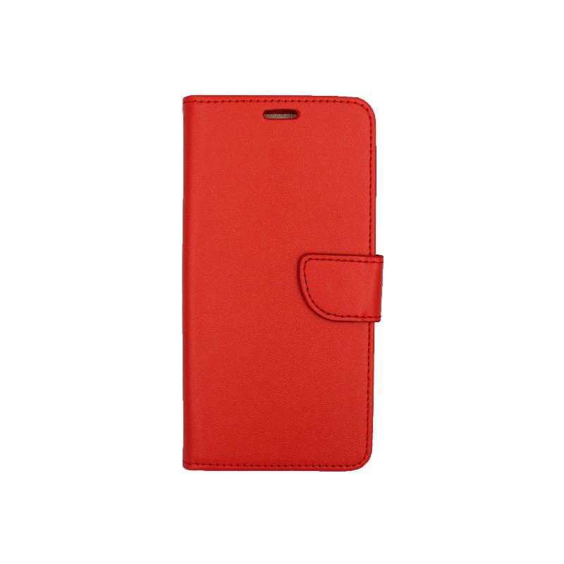 Θήκη Samsung Galaxy A10 / M10 Wallet κόκκινο 1