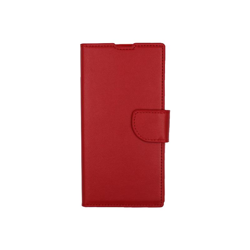 Θήκη Samsung Galaxy Note 10 πορτοφόλι κόκκινο 1