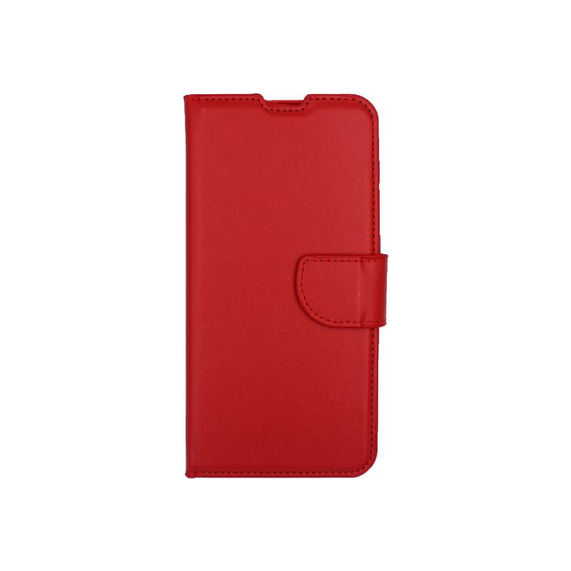 Θήκη Samsung Galaxy A20 / Α30 Wallet κόκκινο 1