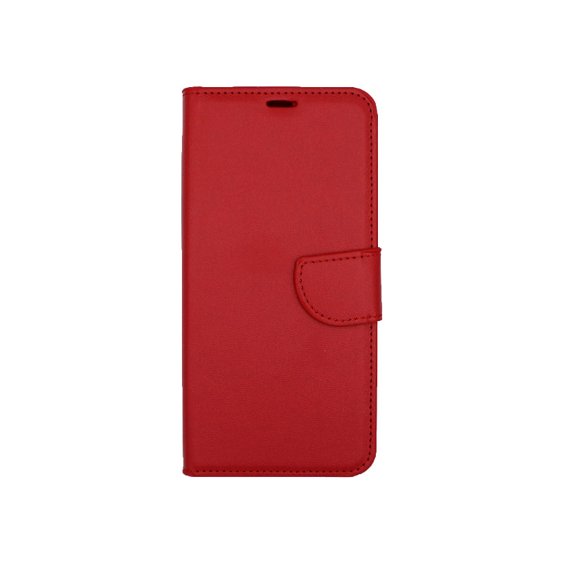 Θήκη Samsung Galaxy A6 Plus / J8 2018 Wallet κόκκινο 1