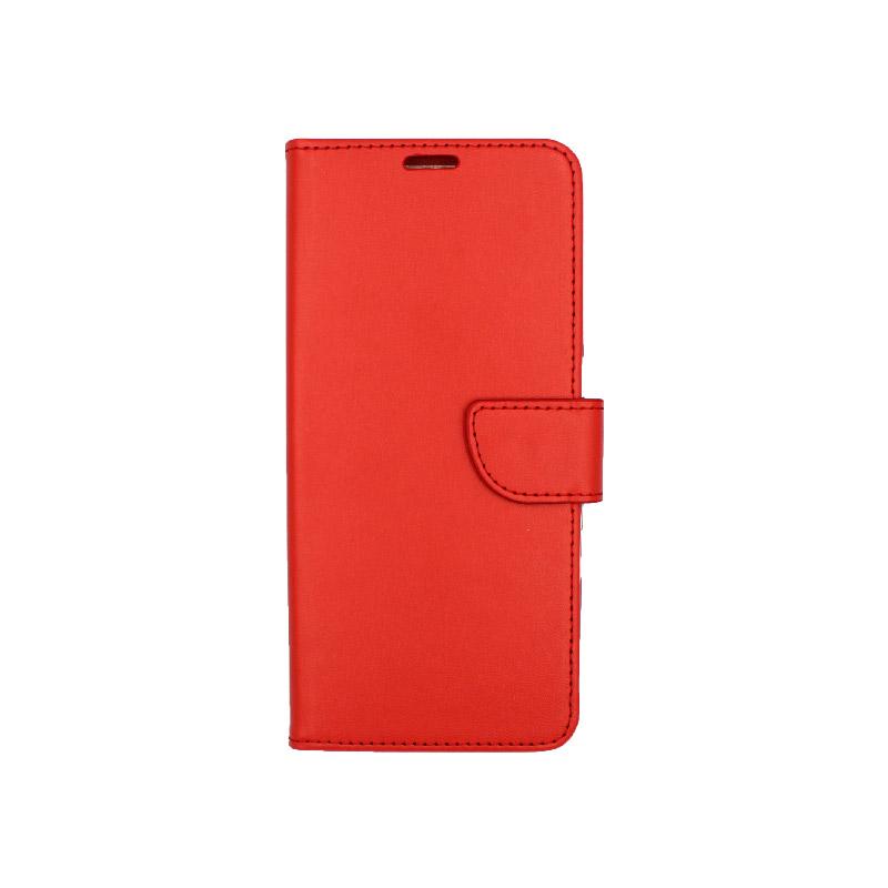 Θήκη Samsung A81 / Note 10 Lite Wallet κόκκινο 1