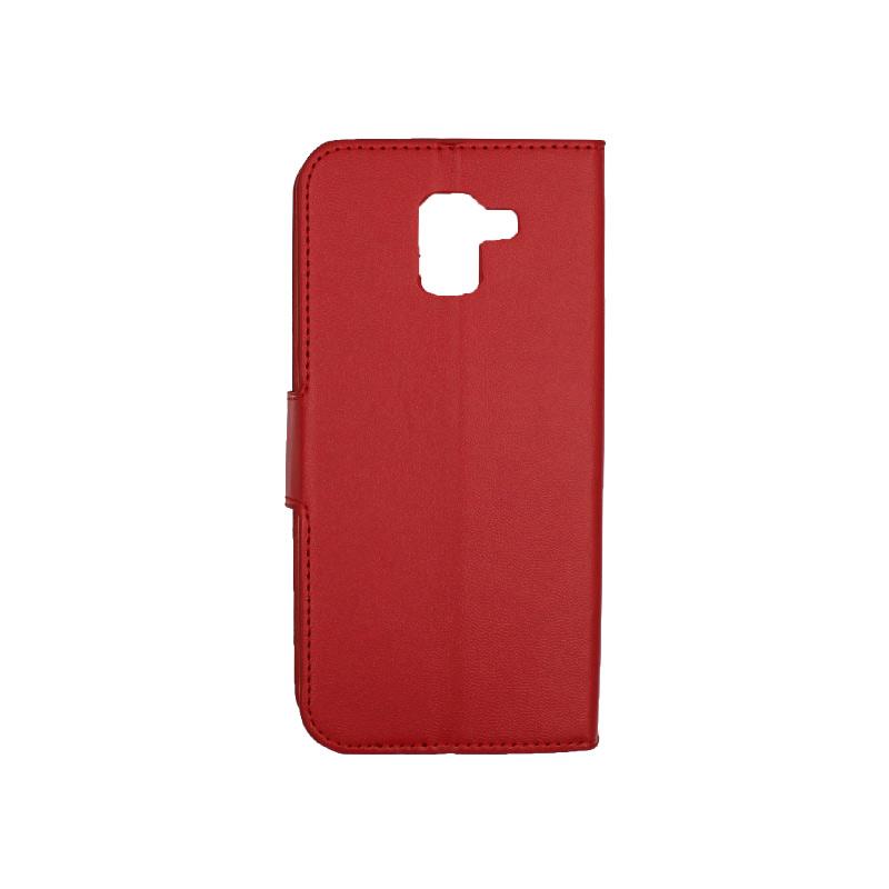 Θήκη Samsung Galaxy J6 πορτοφόλι κόκκινο 2