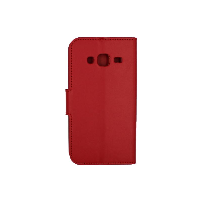 Θήκη Samsung Galaxy J3 2016 πορτοφόλι κόκκινο 2