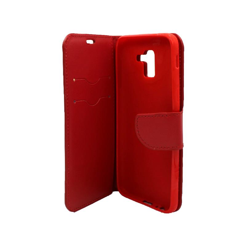 Θήκη Samsung Galaxy J6 πορτοφόλι κόκκινο 3