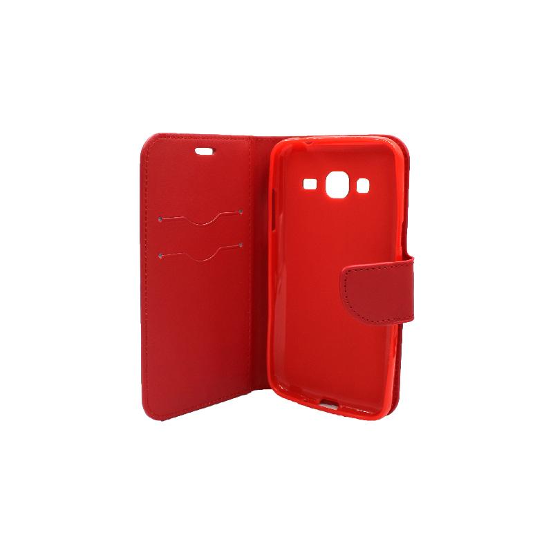 Θήκη Samsung Galaxy J3 2016 πορτοφόλι κόκκινο 3
