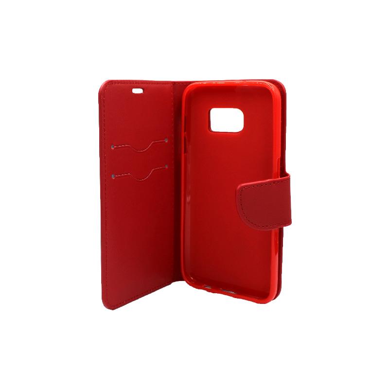 Θήκη Samsung Galaxy S7 πορτοφόλι κόκκινο 3