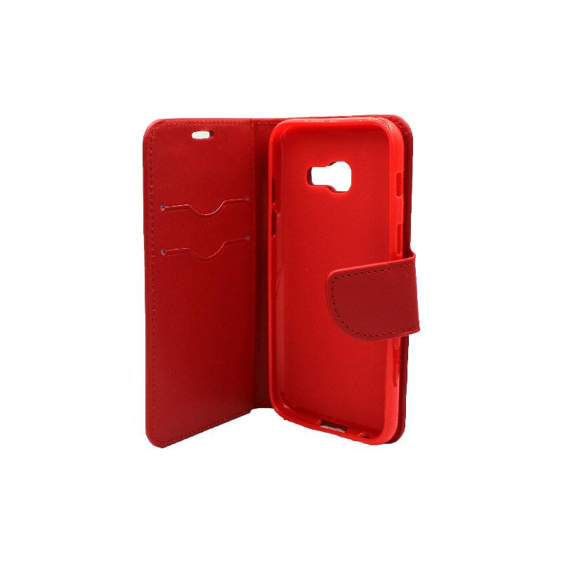 Θήκη Samsung Galaxy Α3 2017 Wallet κόκκινο 3