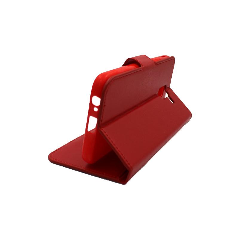 Θήκη Samsung Galaxy J6 πορτοφόλι κόκκινο 4