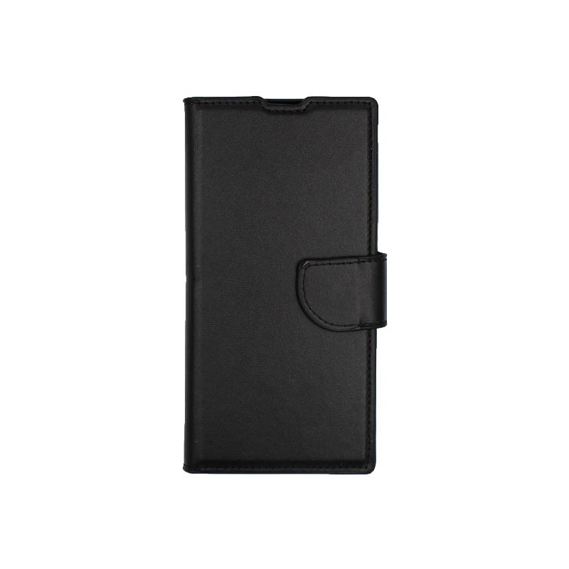 Θήκη Samsung Galaxy Note 10 πορτοφόλι μαύρο 1