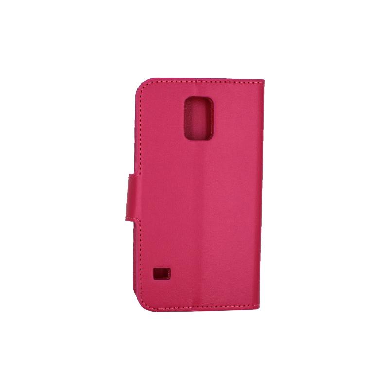 Θήκη Samsung Galaxy S5 πορτοφόλι μωβ 2