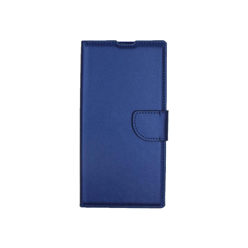 Θήκη Samsung Galaxy Note 10 Plus πορτοφόλι μπλε 1