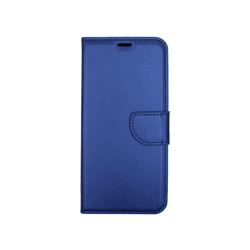 Θήκη Samsung Galaxy A6 Plus / J8 2018 Wallet μπλε 1