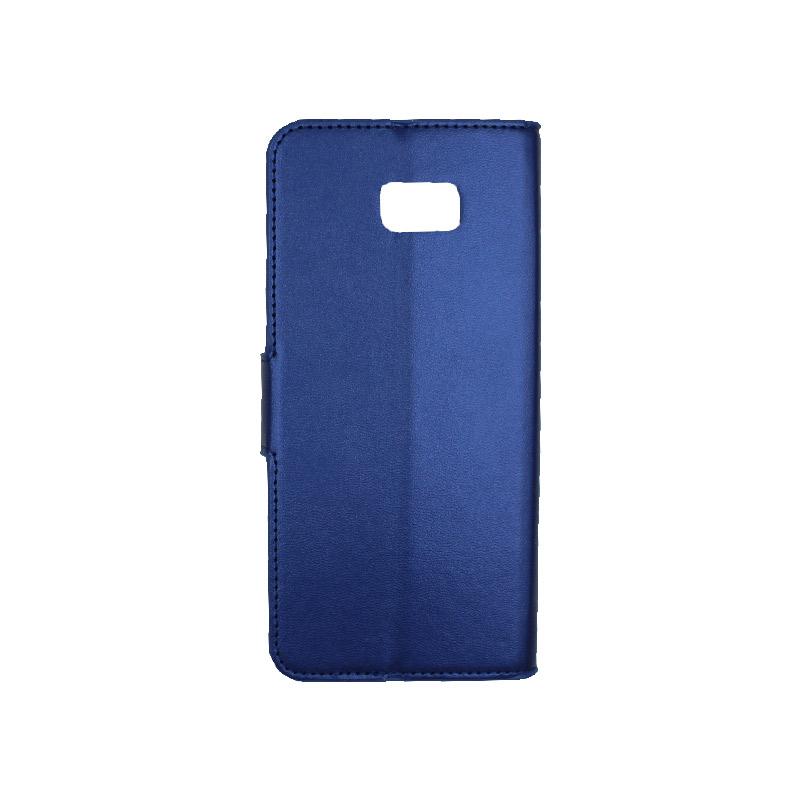 Θήκη Samsung Galaxy J4 Plus πορτοφόλι μπλε 2