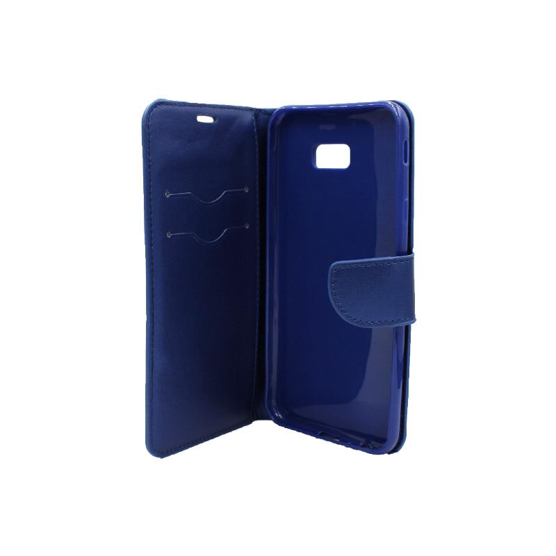 Θήκη Samsung Galaxy J4 Plus πορτοφόλι μπλε 3