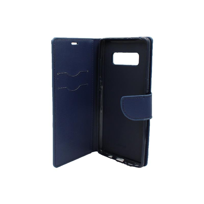 Θήκη Samsung Galaxy Note 8 πορτοφόλι μπλε 3