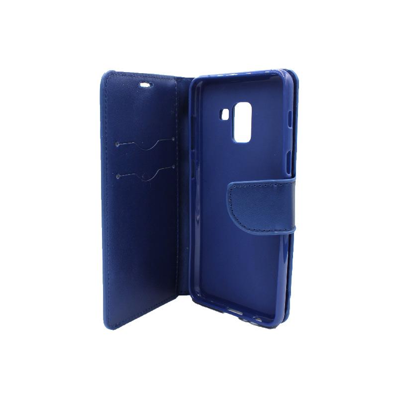 Θήκη Samsung Galaxy Α5 / Α8 2017 Wallet μπλε 3