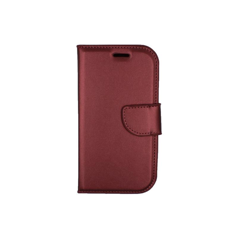 Θήκη Samsung Galaxy S3 πορτοφόλι μπορντό 1
