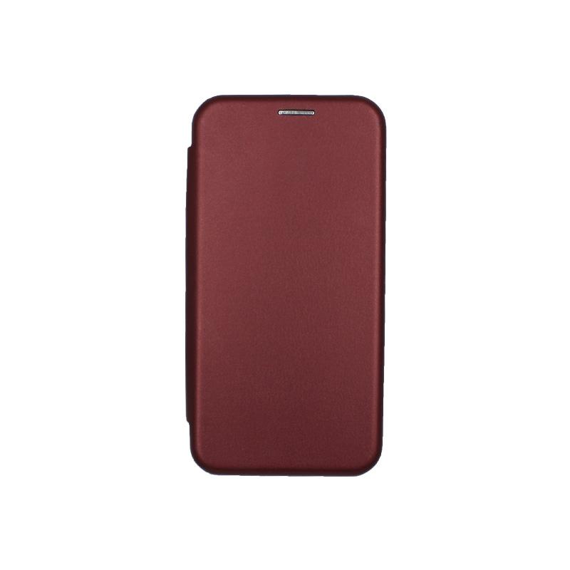 θήκη iphone 11 pro πορτοφόλι μπορντό 1