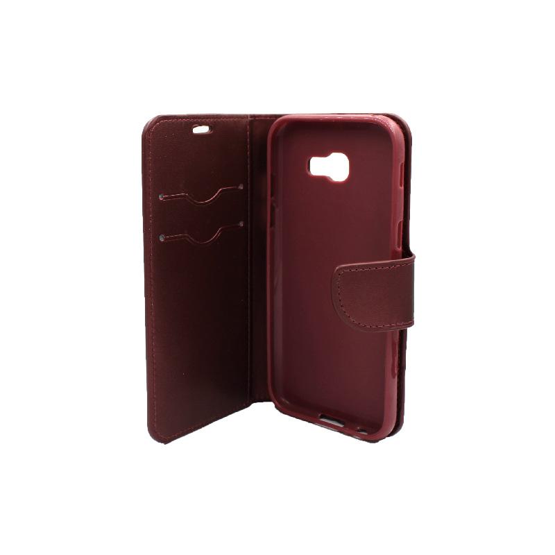 Θήκη Samsung Galaxy Α5 2017 Wallet μπορντό 3