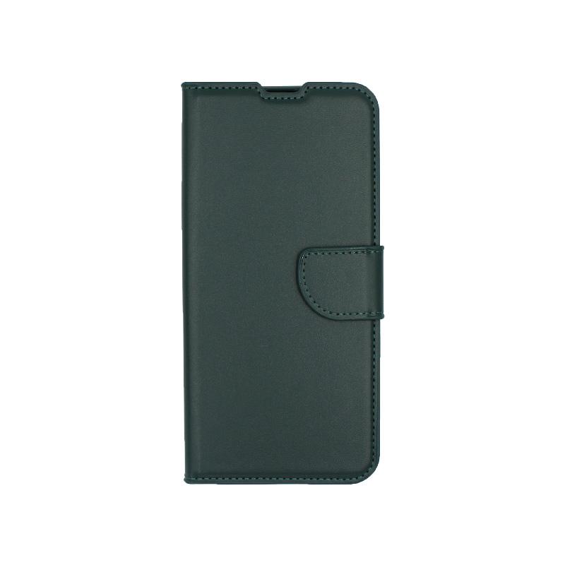 Θήκη Samsung Galaxy A70 / Α70S Wallet πράσινο 1