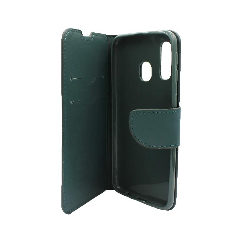 Θήκη Samsung Galaxy A40 Wallet πράσινο 3