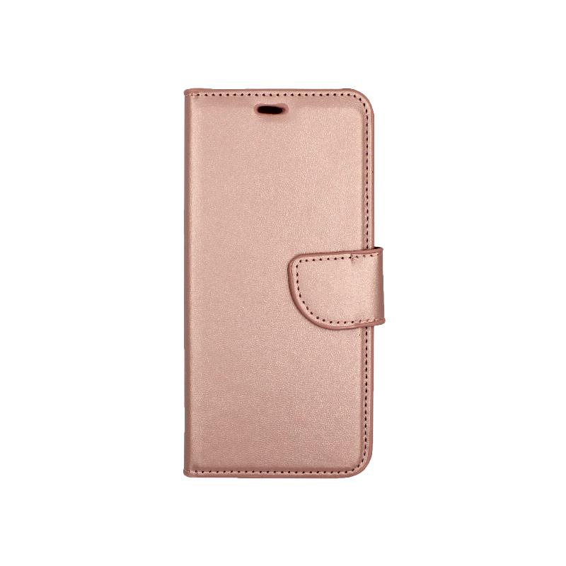 Θήκη Samsung Galaxy S8 πορτοφόλι ροζ χρυσό 1