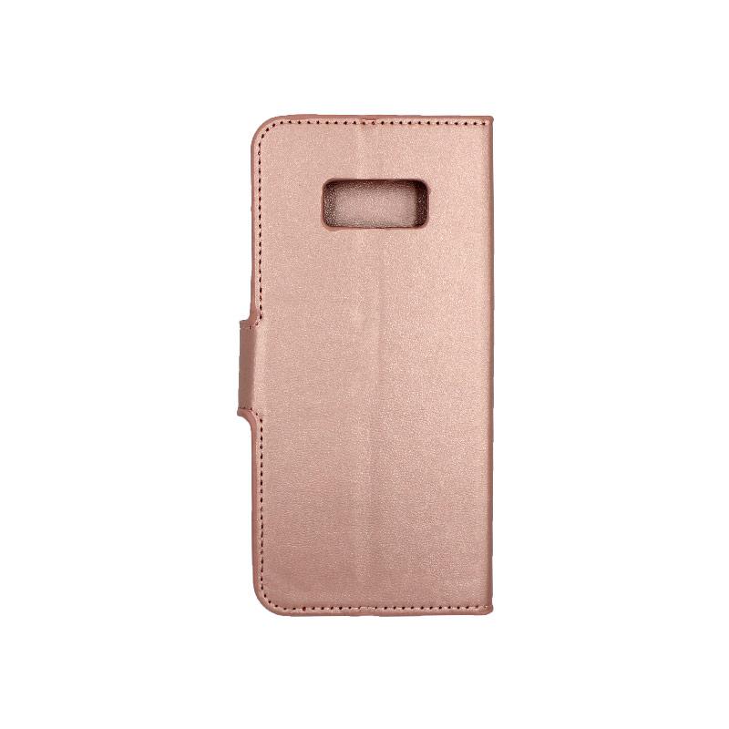 Θήκη Samsung Galaxy S8 πορτοφόλι ροζ χρυσό 2